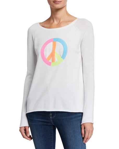 Lisa Todd Plus Size Peace Out Sequin Detail Cotton Sweater