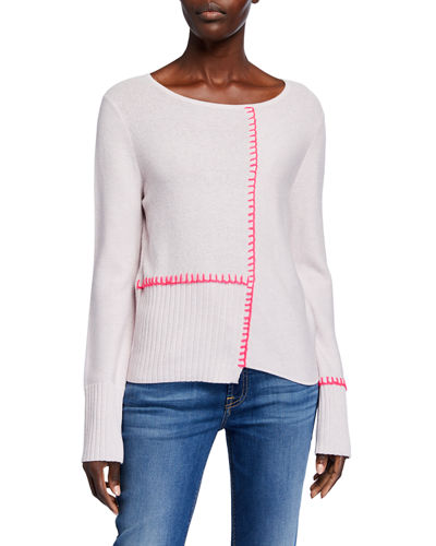 Lisa Todd Plus Size Stepped Up Mixed Stitch Sweater
