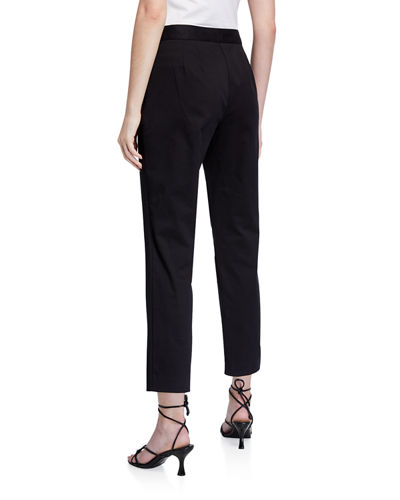 Natori Slim Cotton Twill Ankle Pants