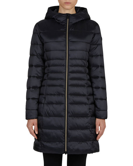 Save the Duck Long Iris Hooded Puffer Coat