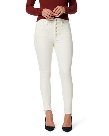 Joe's Jeans Charlie Ankle Skinny Jeans w/ Button Fly