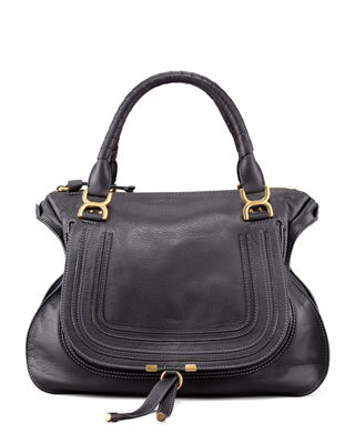 Chloe Marcie Large Leather Satchel Bag