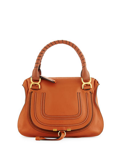 Marcie Large Leather Satchel Bag