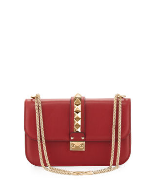 Lock Rockstud-Trim Flap Bag