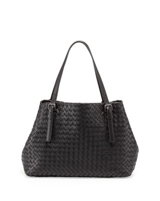 Image 1 of 2: A-Shape Woven Tote Bag