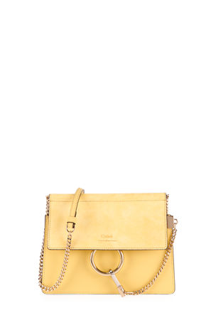 Chloe Faye Small Suede/Leather Shoulder Bag