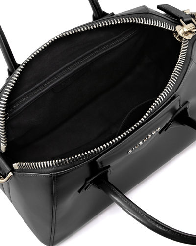 Antigona Small Leather Satchel Bag
