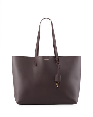 'SHOPPING' LEATHER TOTE - BLACK