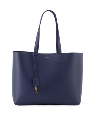 'SHOPPING' LEATHER TOTE - BLUE