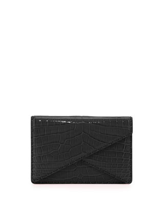 Bottega Veneta Piano Crocodile Crisscross Clutch Bag