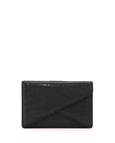 Piano Crocodile Crisscross Clutch Bag