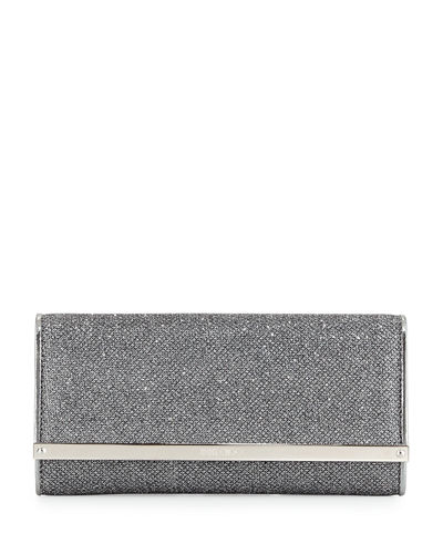 Milla Large Glitter Clutch Bag