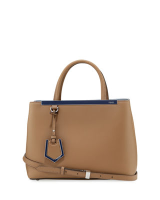 Fendi 2Jours Leather Satchel Bag