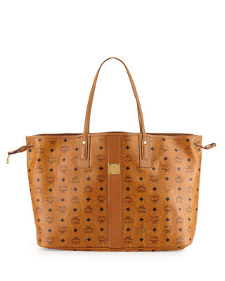 MCM Liz Reversible Large Visetos Tote Bag