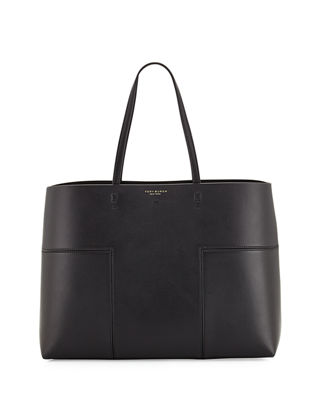 Block-T Leather Tote Bag