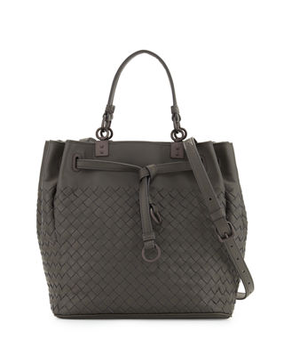 Bottega Veneta Woven Intrecciato Pleated Tote Bag