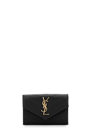 Saint Laurent Monogramme Small Grain de Poudre Envelope Wallet