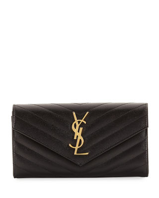 Monogram Leather Large Flap Continental Wallet