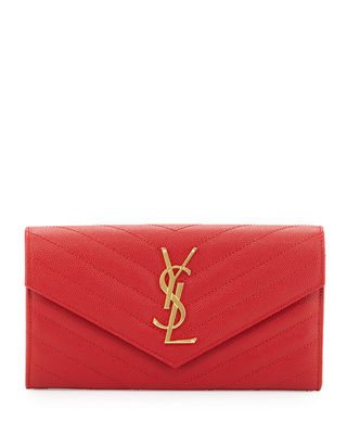 Monogram Leather Medium Flap Continental Wallet