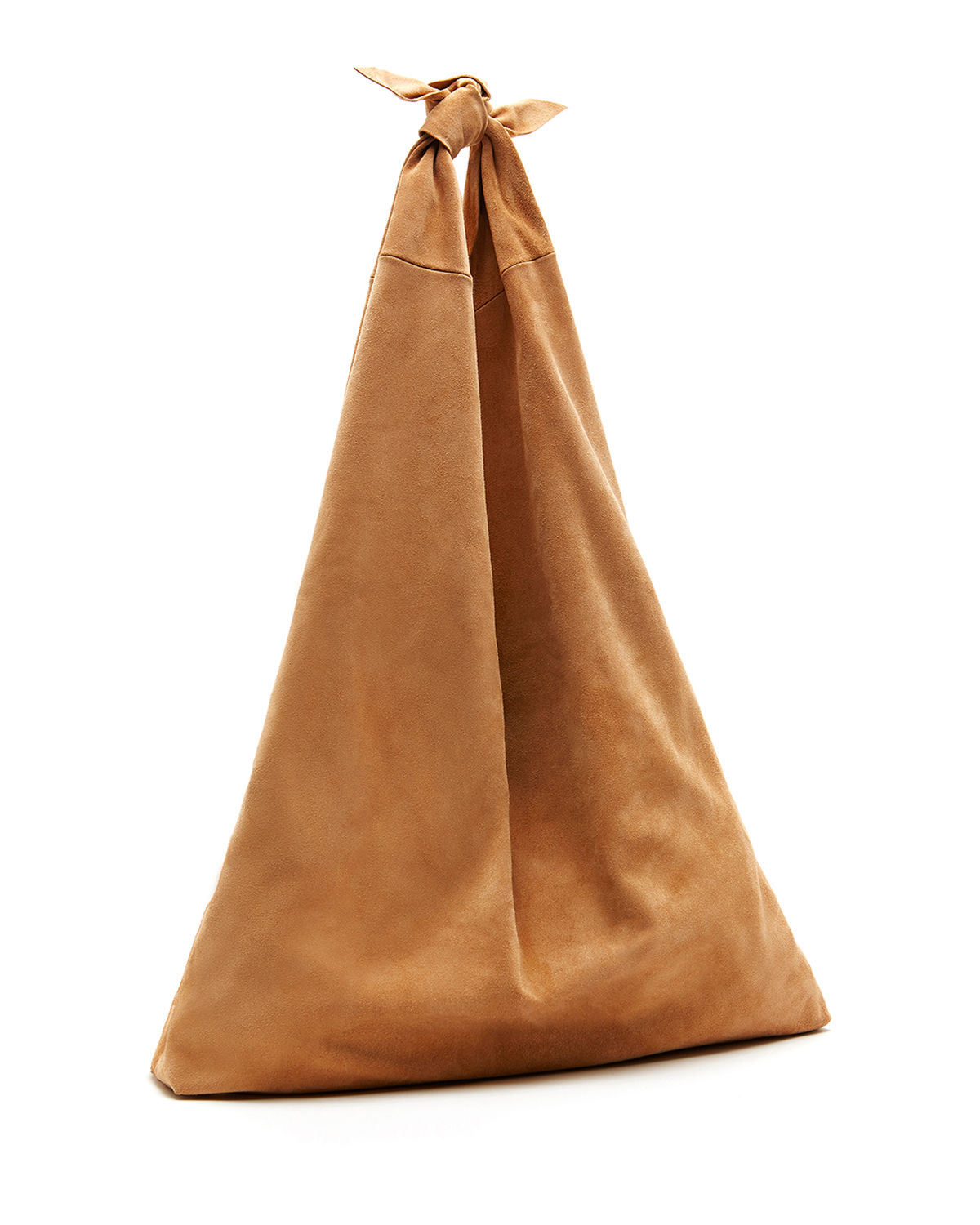 Bindle Knot Suede Hobo Bag