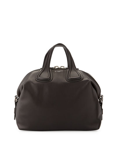 Givenchy Nightingale Medium Waxy Leather Satchel Bag