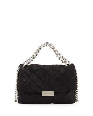 Stella McCartney Bex Small Quilted Flap Shoulder Bag