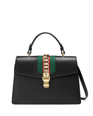 Gucci Sylvie Leather Top-Handle Satchel Bag