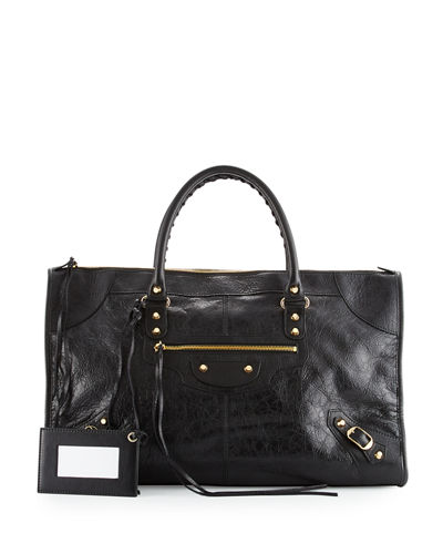 Balenciaga Classic Gold Work Tote Bag