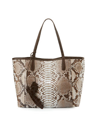 Erica Python Shopper Tote Bag