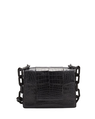 Nancy Gonzalez Crocodile Small Chain-Strap Shoulder Bag