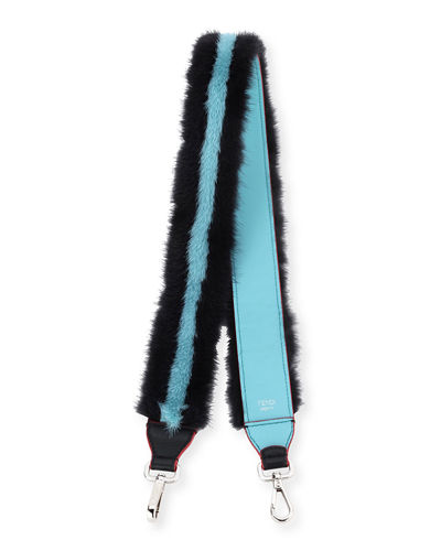 Fendi Strap You Mink Stripe Shoulder Strap for