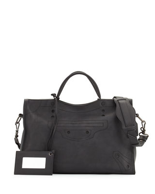 Balenciaga Blackout City AJ Shoulder Bag