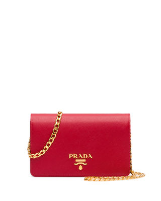 Image 1 of 2: Saffiano Lux Crossbody Bag