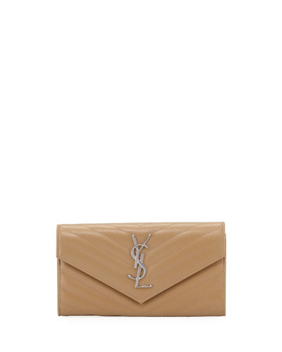 Monogram Medium Leather Flap Continental Wallet