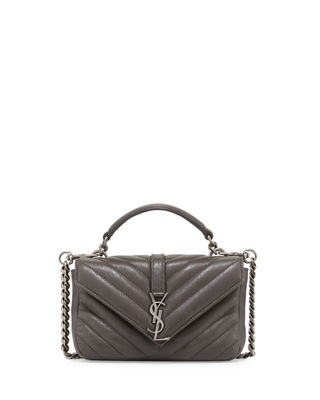 Saint Laurent College Matelass?? Chain Wallet
