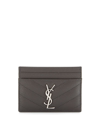 Saint Laurent Monogram Matelassé Leather Card Case