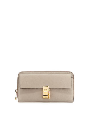 Chloe Drew Leather Zip-Around Wallet