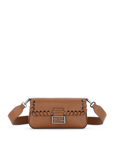 Baguette Whipstitch Leather Shoulder Bag