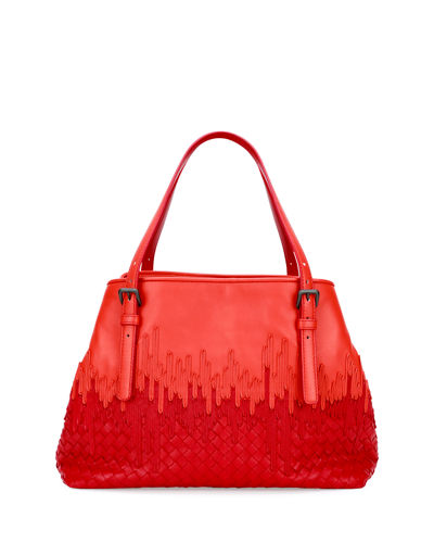 Bottega Veneta Medium Flow Wave Intrecciato Tote Bag