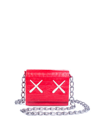 KAWS XX Gio Crocodile Crossbody Bag