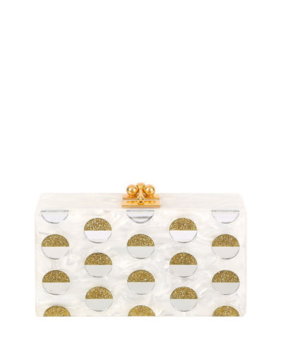 Edie Parker Jean Double Dot Box Clutch Bag