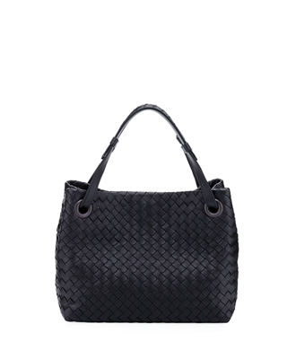 Image 1 of 3: Intrecciato Small Square Bucket Bag
