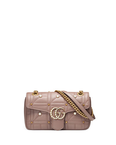 GG Marmont Small Pearly Shoulder Bag