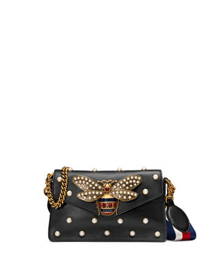 Image 1 of 5: Broadway Pearly Bee Shoulder Bag