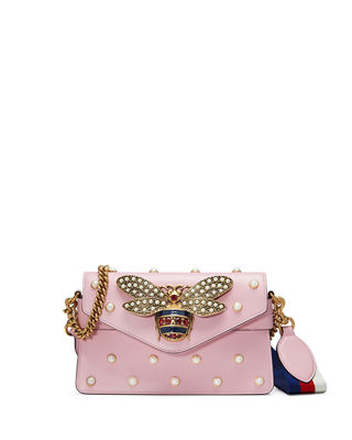 Gucci Broadway Pearly Bee Shoulder Bag