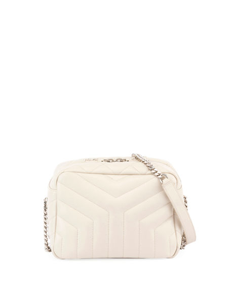 2169bf4fa50e Saint Laurent Loulou Monogram Y-Quilted Small Bowling Bag In Ivory ...