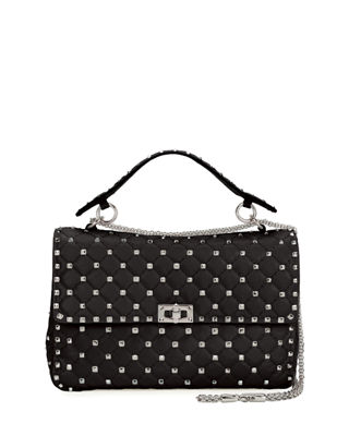 Image 1 of 4: Rockstud Spike Medium Quilted Shoulder Bag