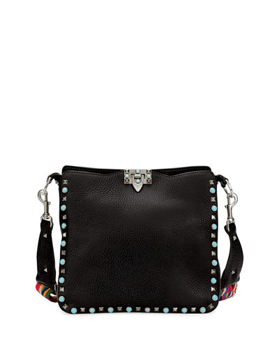 Rockstud Rolling Small Flip-Lock Hobo Bag