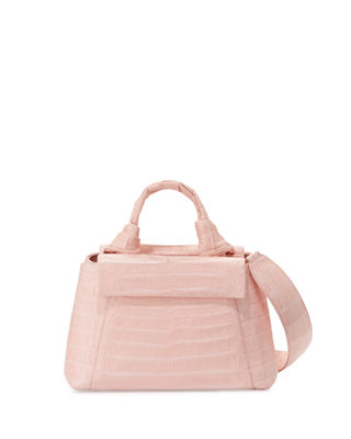 Crocodile Knot-Handle Mini Tote Bag