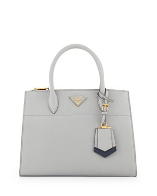 Medium Saffiano Greca Paradigm Tote Bag